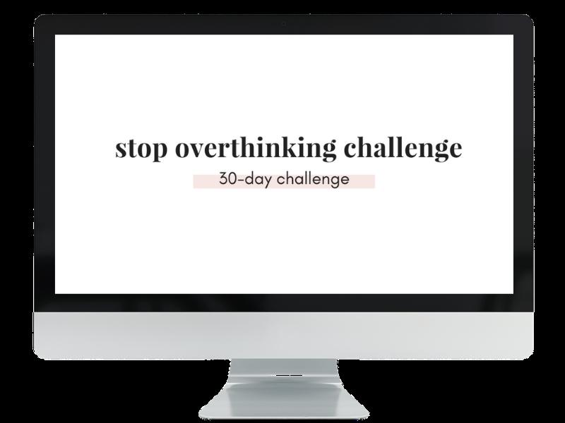 Stop overthinking challenge computer graphic